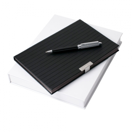 Nina Ricci Комплект Бележник А5 и химикалка Trace Noir
