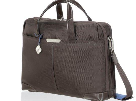 Бизнес чанта S-Oulite за 15,6 инча лаптоп кафяв цвят