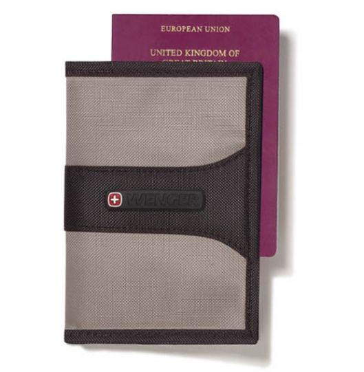 Калъф за паспорт с RFID защита Wenger WE6078 GY