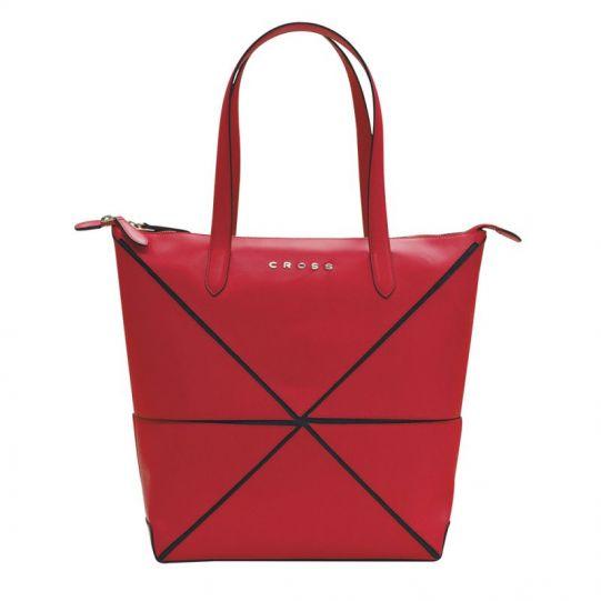 Дамска чанта Cross Origami Collapsible, голям размер, Червена