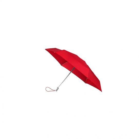 Четворно сгъваем червен автоматичен мини-чадър
