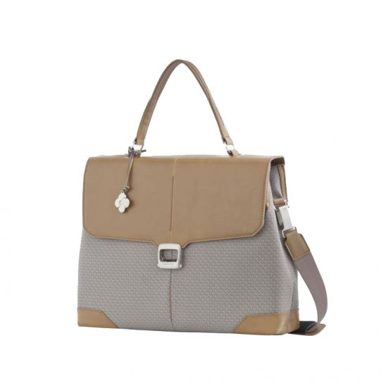Бизнес чанта с капак и елементи от кожа за 14.1