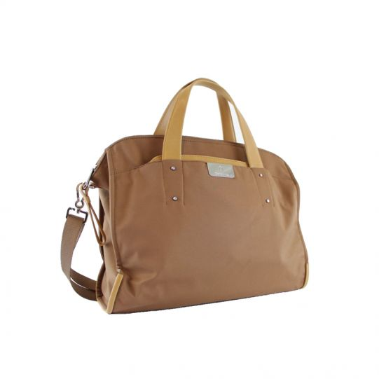 Дамска бизнес чанта за 15,6 инча лаптоп Lady Biz II цвят тютюн