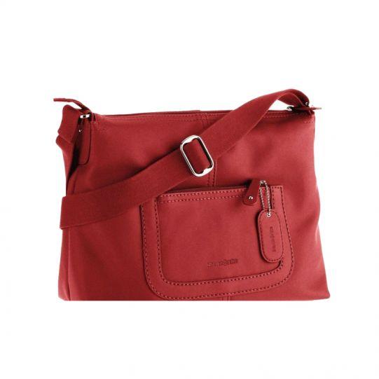 Хоризонтална червена дамска чанта Park