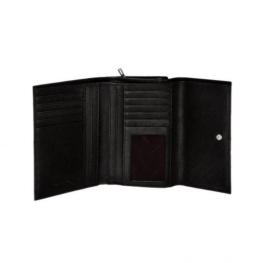 Стилен дамски портфейл от естествена кожа кафяв цвят