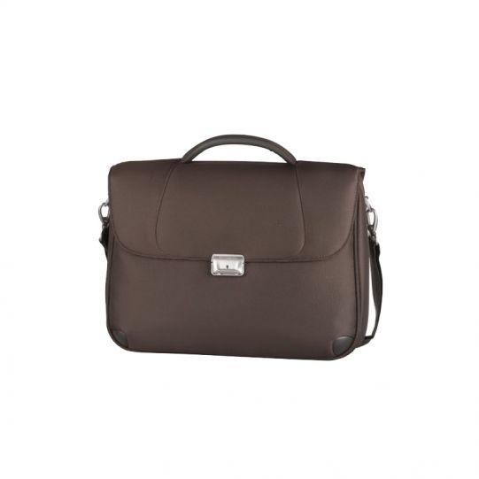 Кафява бизнес чанта X'ion3 за 16 инча лаптоп с две прегради