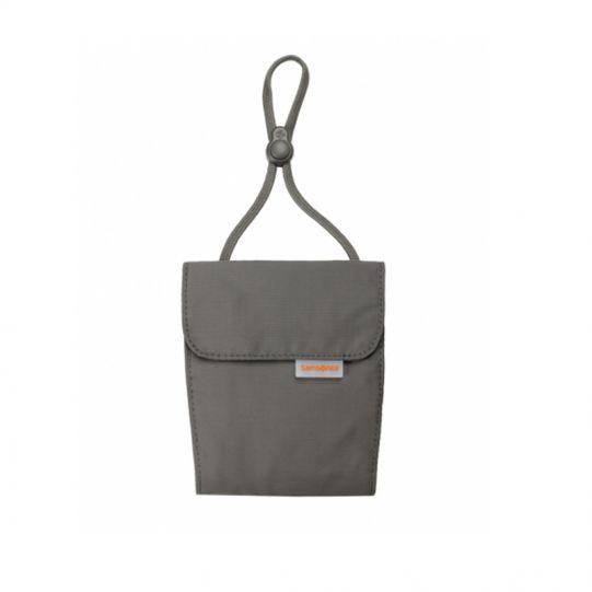 Пътническо портмоне за врат, цвят графит