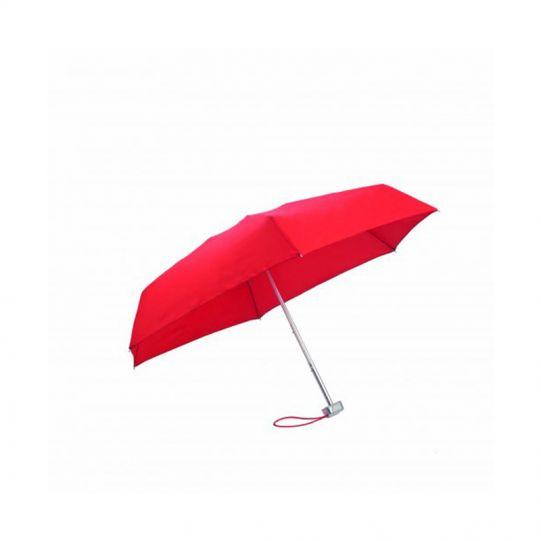 Петорно сгъваем червен ръчен мини-чадър Samsonite
