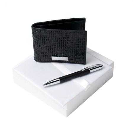 Комплект кожен портфейл и химикалка Nina Ricci Trame