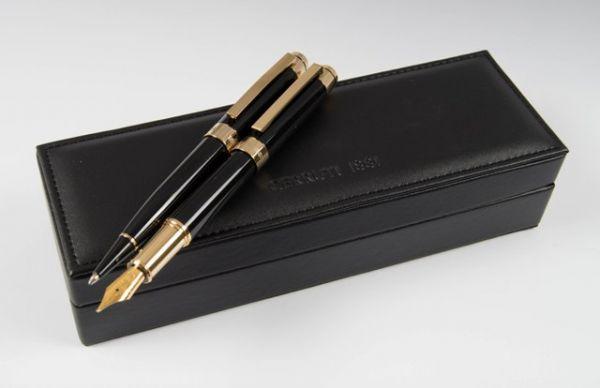 Cerruti Комплект Химикалка и Писалка Heritage Gold В кожена кутия