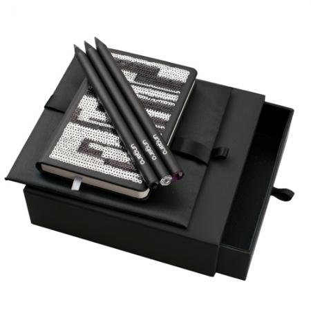Ungaro Комплект Бележник и 3 броя моливи