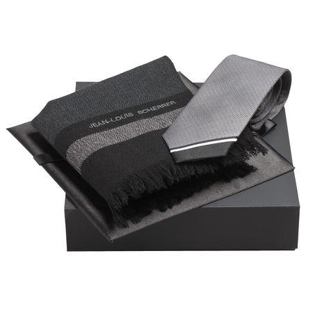 Jean Louis Scherrer Комплект Вълнен шал и вратовръзка