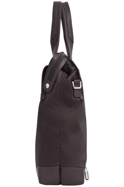 """Дамска бизнес чанта 15.6"""" S-OULITE в тъмно кафяв цвят и елементи от кожа"""