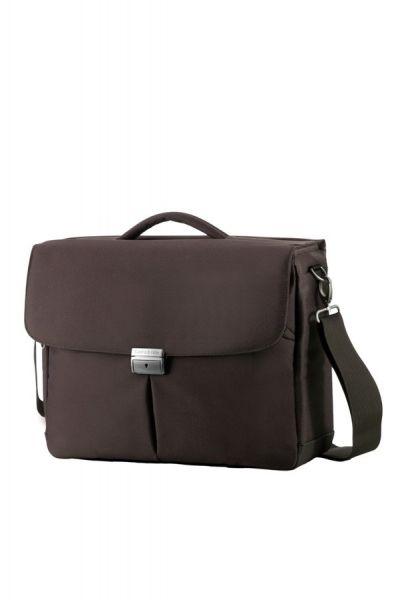 Компютърна бизнес чанта Cordoba Duo с три прегради за 16 инча лаптоп кафяв цвят