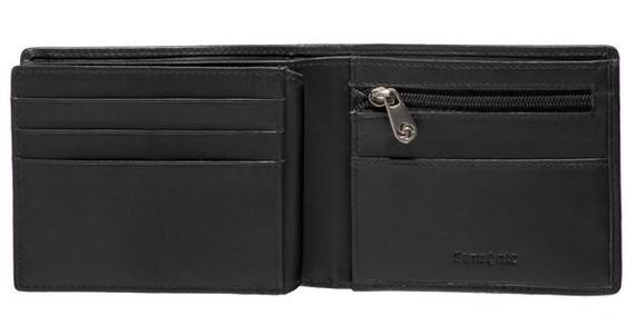 Мъжки черен портфейл от естествена кожа F68.09.003