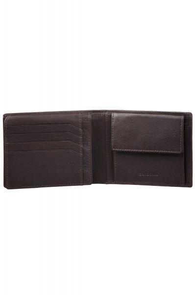 Mъжки черен портфейл от естествена кожа, модел F15.09.005