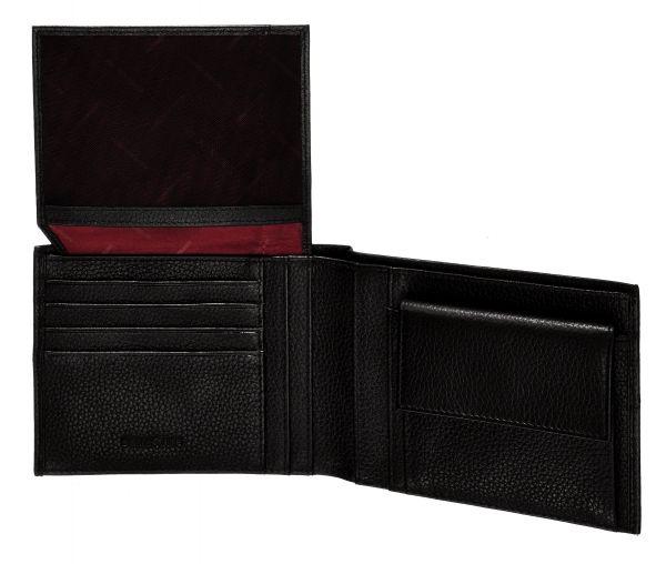 Стилен черен мъжки портфейл от естествена кожа