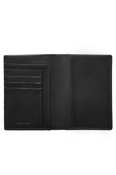 Мъжки черен портфейл от естествена кожа, модел F68.09.801