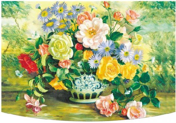Поздравителна картичка с цветя