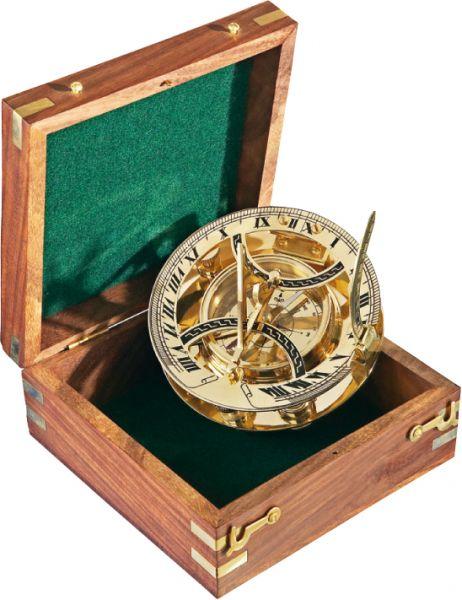 Компас - PANAMA Sun-Dial в дървена подаръчна кутия