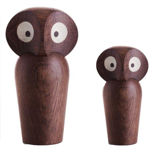Дизайнерска фигурка - дървена сова, малка