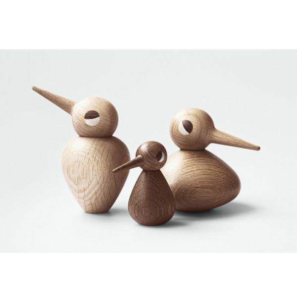 Дизайнерска фигурка - пиленце, дървено, голямо - дебеланко