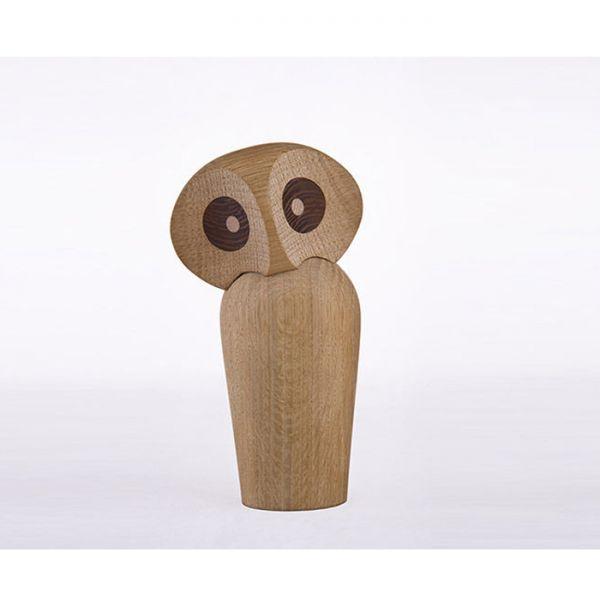 Дизайнерска фигурка - дървена сова, голяма