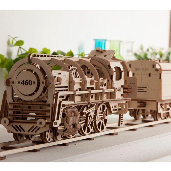Механичен 3D пъзел - локомотив