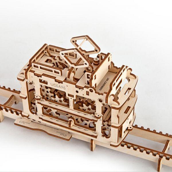 Механичен 3D пъзел - трамвай