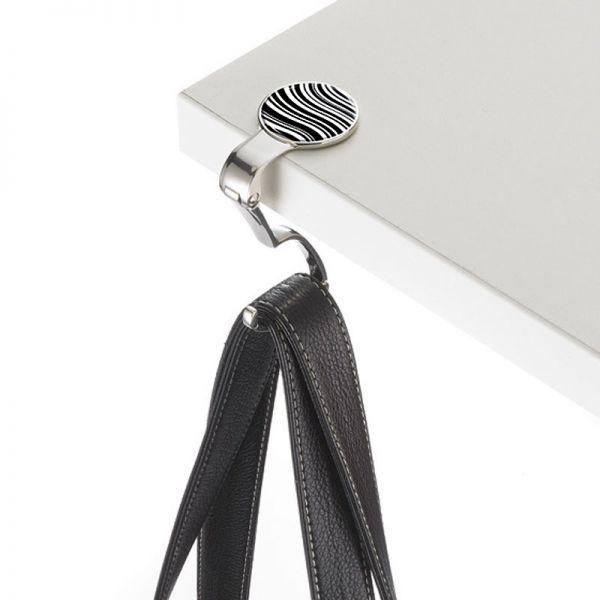 Закачалка за чанта TROIKA - BLACK & WHITE