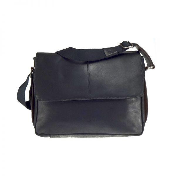 "Кожена чанта Bugatti GRINTA, за лаптоп 12"", черна"