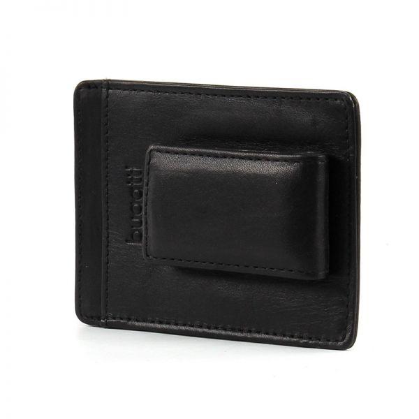 Кожен калъф за кредитни карти и щипка за пари Bugatti Primo