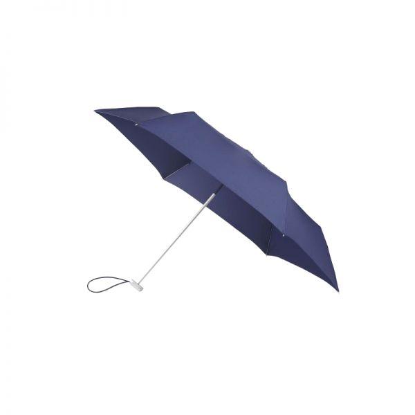 Петорно сгъваем тъмно син ръчен мини-чадър