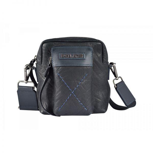 Кожена чантичка за през рамо – POLICE TOLERANCE, черна