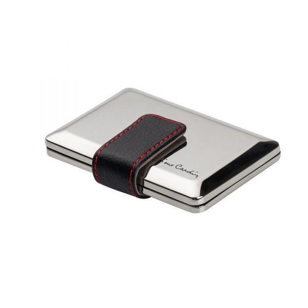Органайзер за документи и кредитни карти Pierre Cardin, металне, кожена закопчалка