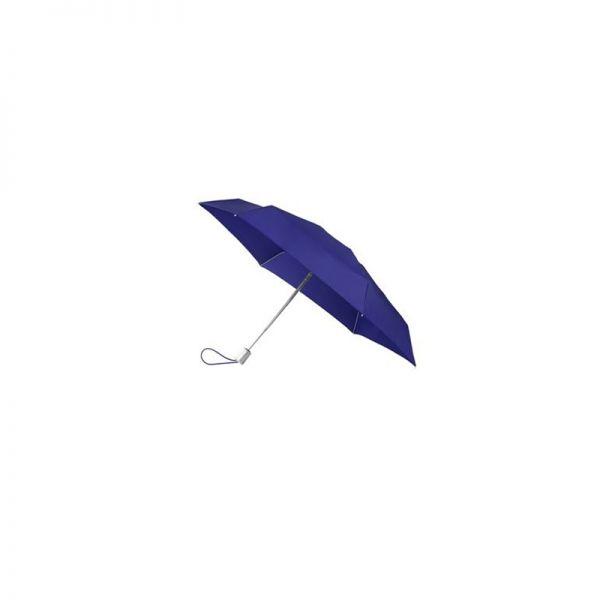 Четворно сгъваем син автоматичен чадър