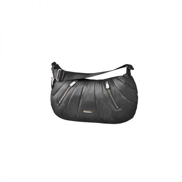 Средна черна дамска чанта Hobo Midtown