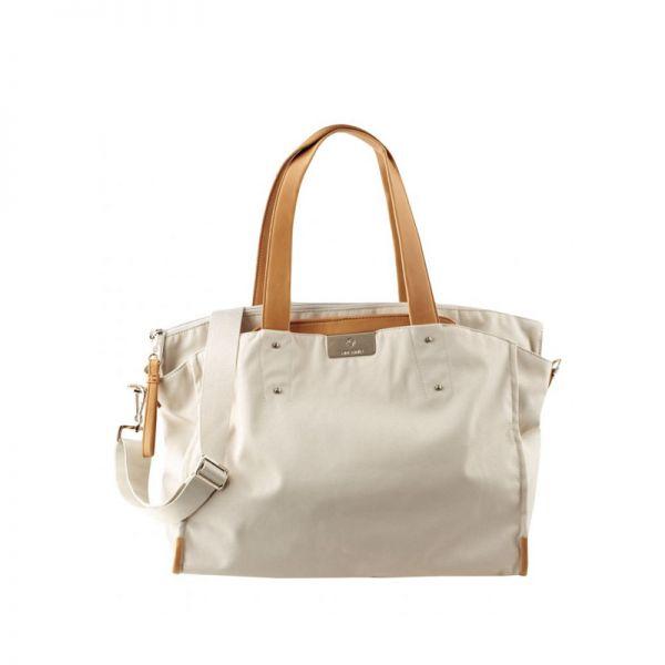 Дамска чанта за 15,6 инча лаптоп Lady Biz II цвят сребърно сиво
