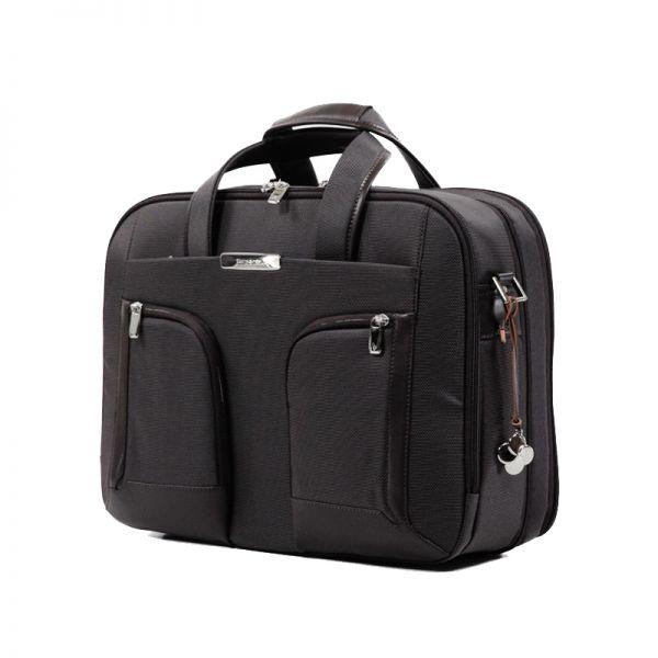 Бизнес чанта с разширение S-Teem за 15,6'' лаптоп кафяв цвят