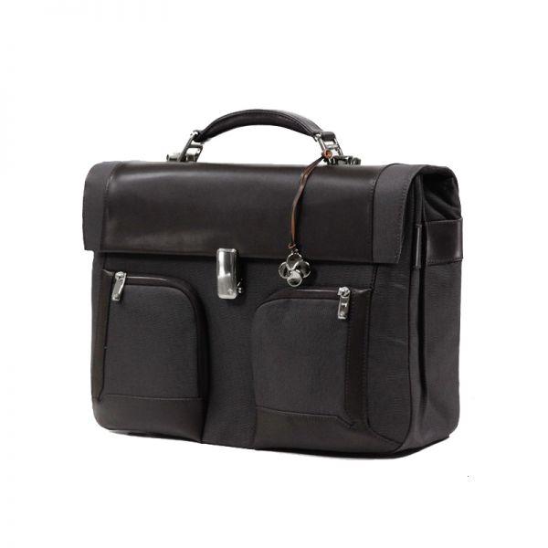 """Бизнес чанта с 2 прегради S-Teem за 16,4"""" лаптоп кафяв цвят"""