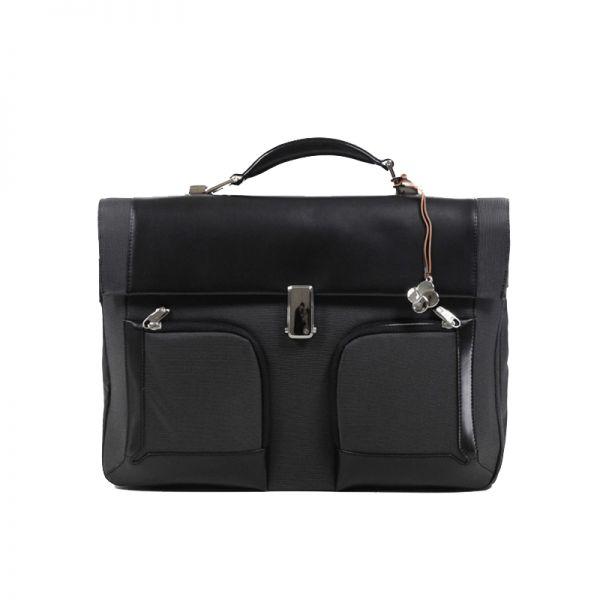 """Бизнес чанта с 2 прегради S-Teem за 16,4"""" лаптоп черен цвят"""