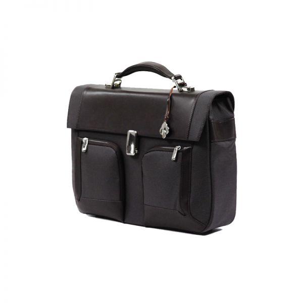 Бизнес чанта с 1 преграда S-Teem за 15,4 инча лаптоп кафяв цвят