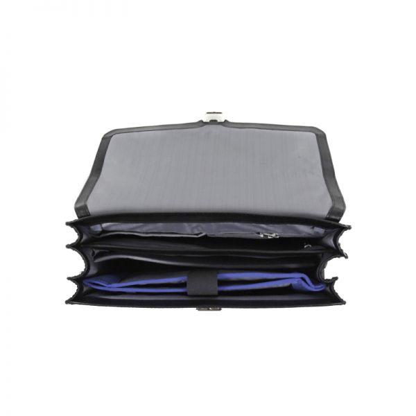 Бизнес чанта с 3 прегради S-Oulite за 15,6 инча лаптоп кафяв цвят