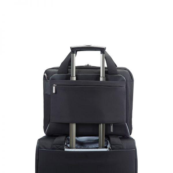 Черна компютърна чанта с разширение за 16 инча лаптоп Spectrolite