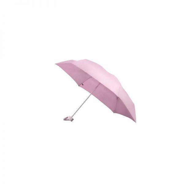 Петорно сгъваем ръчен чадър в металик червено
