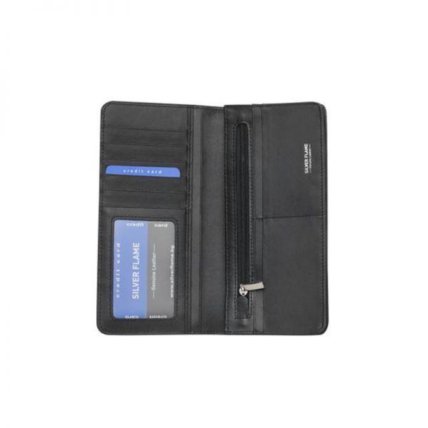 Мъжки пътен портфейл за сако, Silver Flame