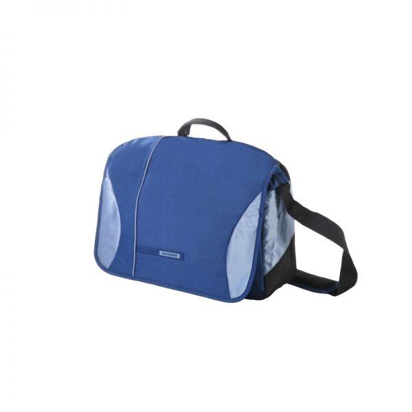 Синя чанта за рамо с отделение за 15.6 инча лаптоп Wander- Full