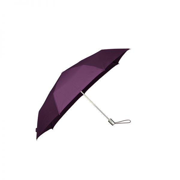 Тройно сгъваем лилав автоматичен чадър, диаметър 91 см, Samsonite