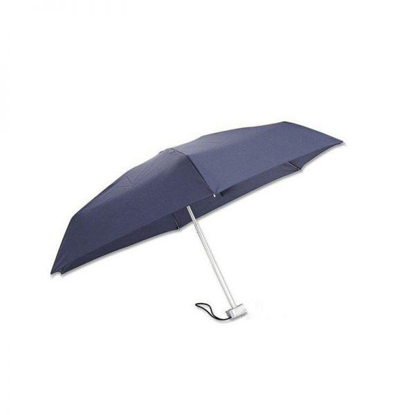 Четворно сгъваем син ръчен чадър Samsonite