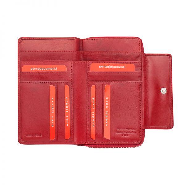 Дамски портфейл Pierre Cardin, червен цвят
